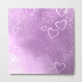 heart love cute pink Metal Print