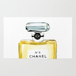 Classic Yellow Perfume Parfum Fashion Bottle Cute Minimalist Rug