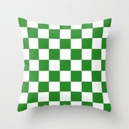 Checker (Forest Green/White) Throw Pillow