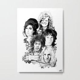 The 27 Club Metal Print