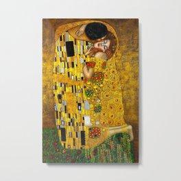 The Kiss Painting Gustav Klimt Metal Print