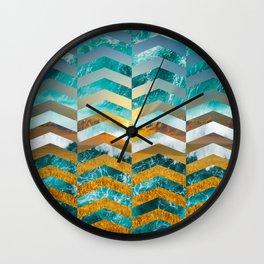 Golden Lapas -Wide Chevrons Wall Clock