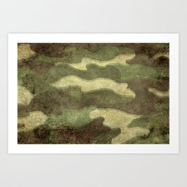 Dirty Camo Art Print