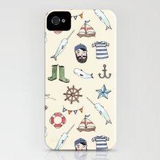 Nautical Pattern Slim Case iPhone (4, 4s)