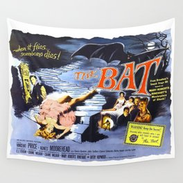 The Bat, vintage horror movie poster Wall Tapestry