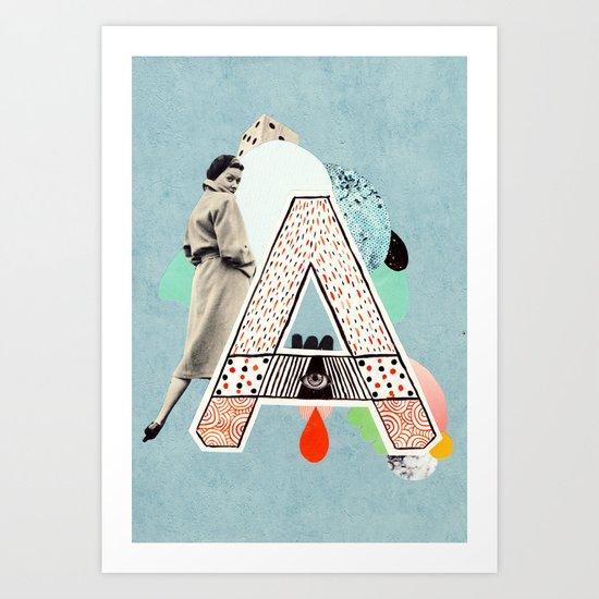 """a to z - """"A"""" Art Print"""