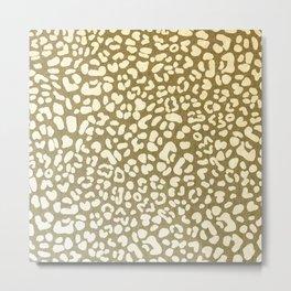 Leopard Beige Pattern Metal Print