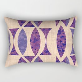 Seventies violet Pattern Rectangular Pillow