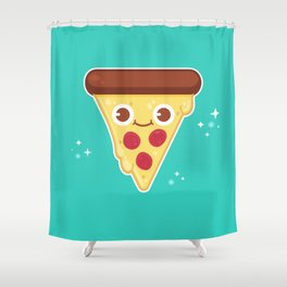 Pizza Party Shower Curtain