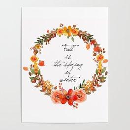 Flower fall Poster