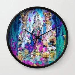 Saraswati, Lakshmi & Ganesha Wall Clock