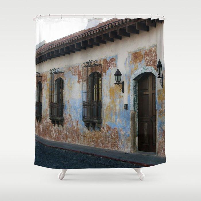 Antigua Guatemala Street Shower Curtain By Susymargaritagomez