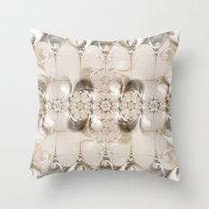 Pattern silver brown Throw Pillow