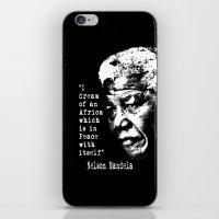 mandela iPhone & iPod Skins featuring Mandela by PsychoBudgie