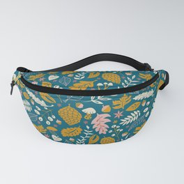 Fall Foliage in Blue and Gold Fanny Pack
