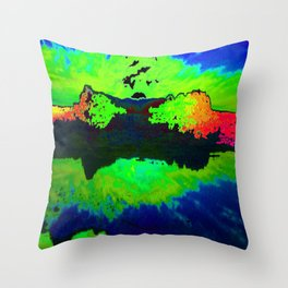 Reflection In Time Throw Pillow