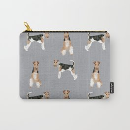 Wire Fox Terrier dog breed pure breed dog lover gifts Carry-All Pouch