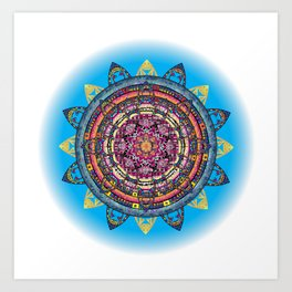 Circle of Emotions in Blue Art Print
