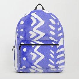 Loose boho chic pattern - ultramarine blue Backpack