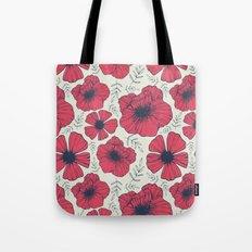 Raspberry Flowers Tote Bag