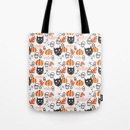 Cats, Bats and Pumpkins Tote Bag