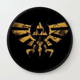 Triforce Grunge Wall Clock