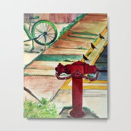 By the road side Metal Print