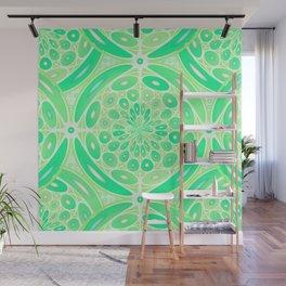 Kiwi green geometric Wall Mural