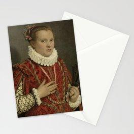 Giambattista Moroni - Portrait of a young Woman Stationery Cards