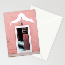 Pink House in Mexico Stationery Cards