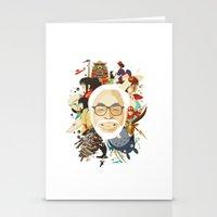 hayao miyazaki Stationery Cards featuring Miyazaki-San by Danny Haas