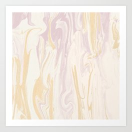 Liquid Rose Gold Marble Art Print