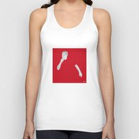 liverpool Tank Tops featuring Steven Gerrard Liverpool FC by Mark McKenny