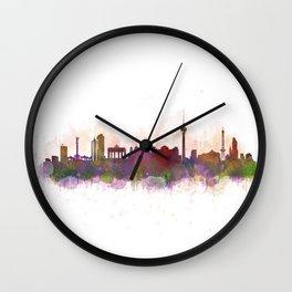 Berlin City Skyline HQ1 Wall Clock