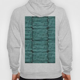 Teal Wood Pattern Hoody