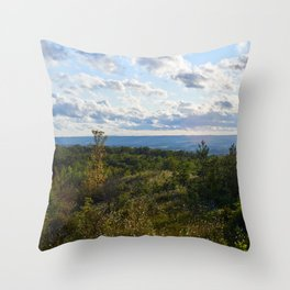Late summer view Throw Pillow