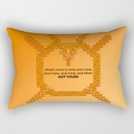 Orange Lantern Symbol & Oath Rectangular Pillow