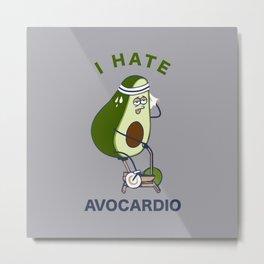 I Hate Avo cardio Metal Print