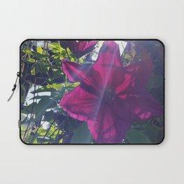 Pink Flower w/sunburst Laptop Sleeve