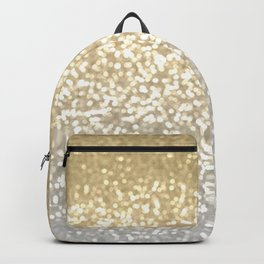 Gold and Silver Glitter Ombre Backpack