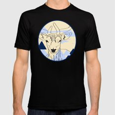 Cervidae SMALL Black Mens Fitted Tee