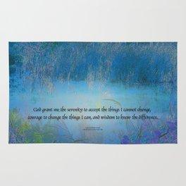 Serenity Prayer Blue Marsh Rug