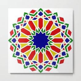 Art Moorish Arabesque Moroccan 2 Metal Print