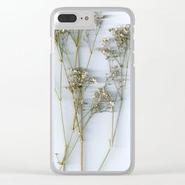 Dry Whites / Flowers Clear iPhone Case