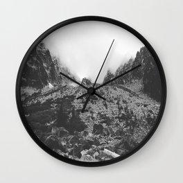 Mountain Lakes and Dreams Wall Clock