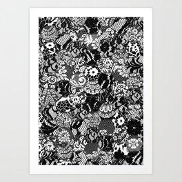 gothic lace Kunstdrucke