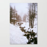 fairy tale Canvas Prints featuring Fairy tale. by Carola Ferrero