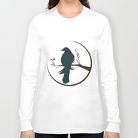 crow Long Sleeve T-shirts featuring crow by voskovski