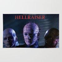 saga Area & Throw Rugs featuring Hellraiser Saga by Saint Genesis