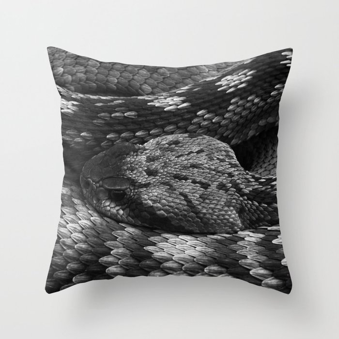Diamondback Rattlesnake Throw Pillow